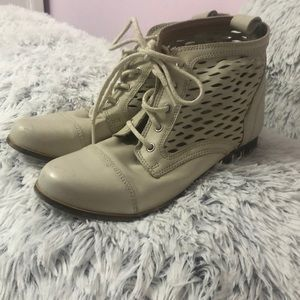 Off-White Lace Up Boots